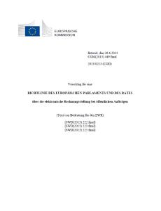 EU-Richtlinienvorschlag E-Invoicing