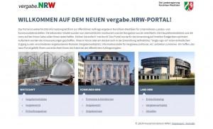vergabe.NRW Relaunch 2014