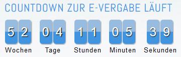 Countdown zur E-Vergabe