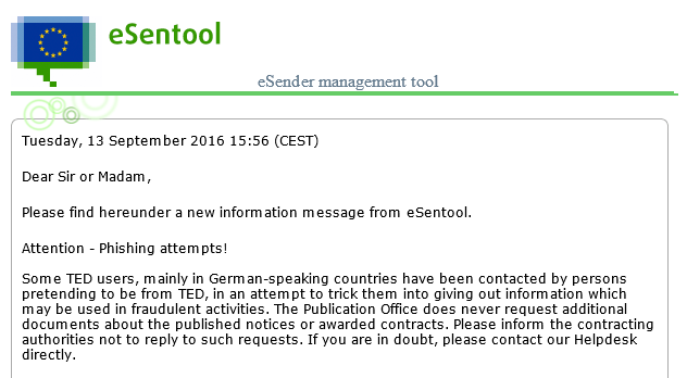 Phishing TED