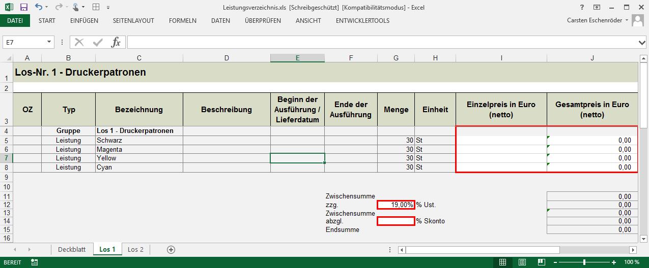 Excel LV