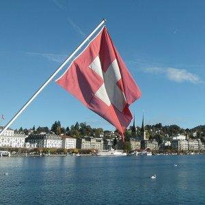Schweiz Flagge Luzern