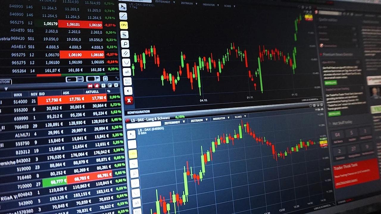 Börsencharts auf Monitor