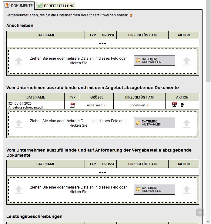 Bildschirmausdruck-VMS-Multi-Datei-Upload