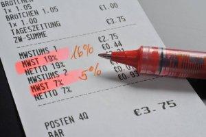 Beleg mit Umsatzsteuer
