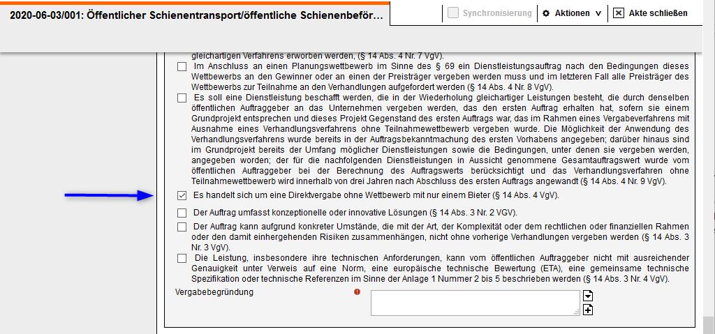 Bildschirmausdruck aus dem cosinex VMS