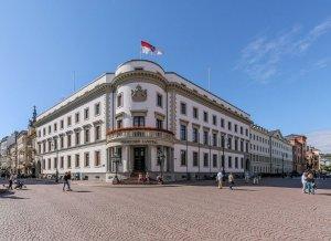 Fassade des Stadtschlosses Wiesbaden, das heute den Hessischen Landtag beherbergt.